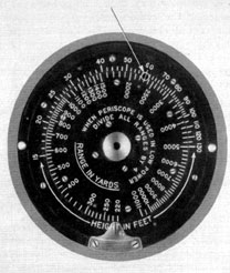 Range finder dials of the periscope 92KA40T/1.99 (Type III) installed on the American submarines Gato and Balao class