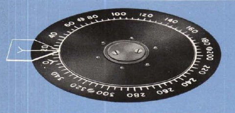 The course dial as the rotating ring