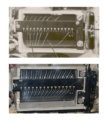 The component for calculating maximum distance to target at the moment of the torpedo launch: early version (before 1943) and late version (after 1943)