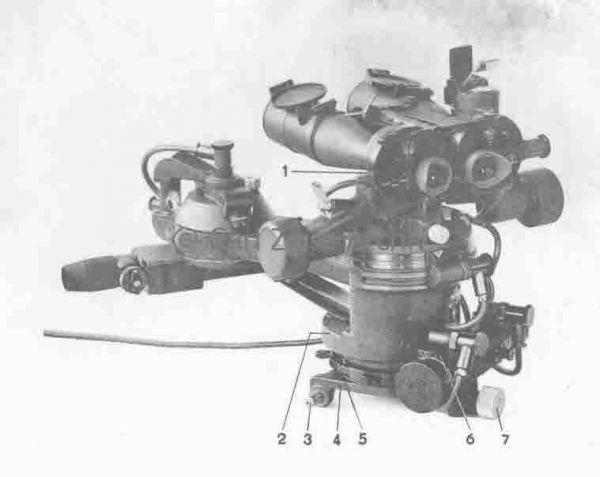 Celownik torpedowy RZA wyposażony w lornetę o powiększeniu 7x50