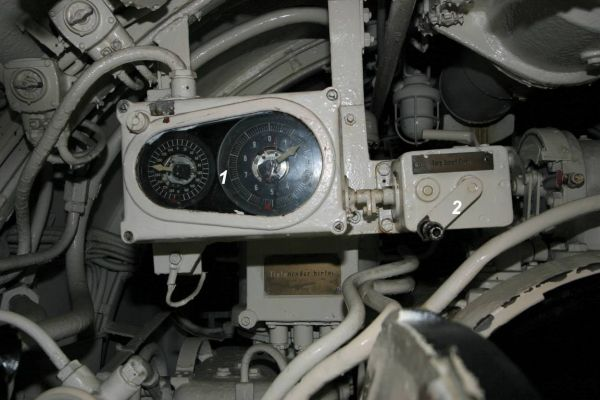Gyro angle receiver in U 995's aft torpedo room