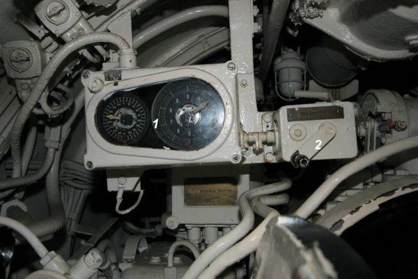 Odbiornik kąta odchylenia żyroskopowego w rufowym przedziale torpedowym U 995