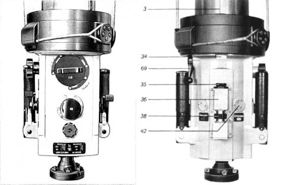 The ocular box of the type NLSR C/9 periscope